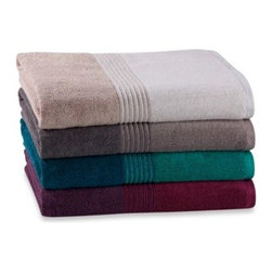 Richloom Home Fashions - Kas Solid Bath Towels in Colors - This ultra-plush and luxurious towel brings comfort and style to your bathroom. It adds great style to your space while providing a warm, gentle feel against your skin. Features ombre color design with striped accenting.