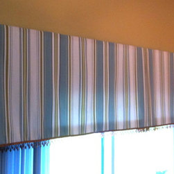 Top Treatment Ideas - This is a simple box pleat valance with a nice beaded trim.
