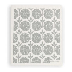 Swedish Dishcloth Garden, Grey - THE SWEDISH ECO-FRIENDLY DISHCLOTH: The dry sponge cloth was invented in 1949 by the Swedish engineer Curt Lindquist, who discovered that a mixture of natural cellulose (wood pulp) and cotton can absorb an incredible 15 times its own weight in water.