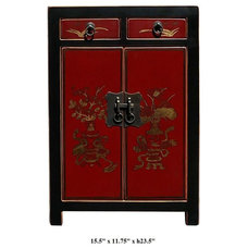 Asian Nightstands And Bedside Tables by Golden Lotus Antiques