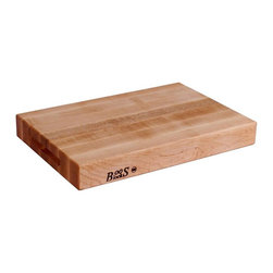 John Boos - 18 in. Cutting Board in Maple Finish - Includes hand grips. Hard maple edge grain construction. 2.25 in. Thick reversible cutting board