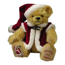 Hermann Spielwaren GmbH - Hermann Spielwaren Christmas Teddy Bear - Hermann Spielwaren Hermann Christmas Teddy Bear  is made of mohair with classic excelsior stuffing. Hermann Spielwaren Hermann Christmas Teddy Bear is made by hand by high-skilled experts. Hermann Spielwaren Hermann Christmas Teddy Bear is Limited to the year 2013.  Handcrafted in Germany.
