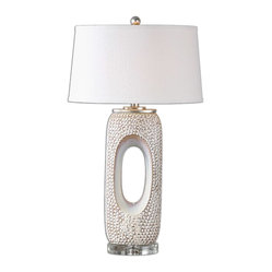 Uttermost - Carbonado Ivory Lamp - In your bedroom, this lamp just might change your life. It speaks of romance and luxury, softness and glamour. Marilyn Monroe probably had one just like it.