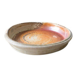 Used Glazed Handmade Vintage Ceramic Pottery Dish - This dish is so pretty! Handmade in Michigan. Perfect for the kitchen, near the front door to hold keys, or to use as a catch-all on your desk. Amazing artisan quality!