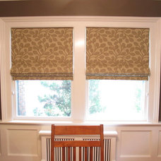Eclectic Roman Blinds by R Garner Custom Designs, LLC