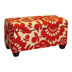 Dandi Storage Bench - Let your home burst with color, not clutter. The Dandi Storage Bench brings both practical functionality and chic design to your home. Crafted from solid pine with 100% cotton upholstery, it's ready to help you store away your extra items in style.