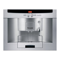 Thermador - Built-in fully automatic coffee machine  Stainless Steel - Its an indulgence you will quickly become accustomed toa coffeehouse coffee machine, completely programmable, that will prepare your espresso, cappuccino or other coffee drink just the way you like it.