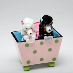 "ATD - 4 3/8"" Black/White Poodles In Polka Dot Box Salt and Pepper Shaker Set - This gorgeous 4 3/8"" Black/White Poodles In Polka Dot Box Salt and Pepper Shaker Set has the finest details and highest quality you will find anywhere! 4 3/8"" Black/White Poodles In Polka Dot Box Salt and Pepper Shaker Set is truly remarkable."