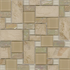Surfaces Elida Random Sized Porcelain Glossy Mosaic in Sand Slate & Reviews | Wa