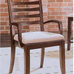 "American Drew - American Drew Tribecca Splat Arm Chairs - Set of 2 Multicolor - ADL2228 - Shop for Dining Chairs from Hayneedle.com! Dine in style with the Tribecca Splat Arm Chairs. The classic simple lines and dark finish with a light seat give these chairs a retro-modern look for your home.About American DrewFounded in 1927 American Drew is a well-established leading manufacturer of medium- to upper-medium-priced bedroom dining room and occasional furniture. American Drew's product collections cover a broad variety of style categories including traditional transitional and contemporary. Their collections range from the legendary 18th-century traditional ""Cherry Grove "" celebrating its 42nd year of success to the extremely popular ""Bob Mackie Home Collection "" influenced by the world-renowned fashion designer Bob Mackie. ""Jessica McClintock Home - The Romance Collection"" debuted in October 2000 with 50 uniquely designed pieces. American Drew's headquarters are located in Greensboro N.C. Its products are distributed through thousands of independently owned retailers throughout the United States and Canada and around the world."