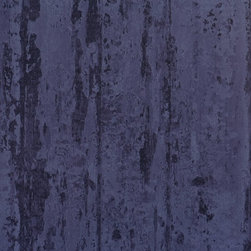 Walls Republic - Crude Indigo Wallpaper R1376, double roll - Crude is a tone on tone wallpaper with a peeled bark look. It can help fashion a vintage or rustic scheme in your interiors.Use this faux finish style in your living room for a simple, yet impactful look.