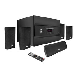 "PYLE-PRO - PYLE PRO PT678HBA 5.1-Channel, 400-Watt HDMI(R) Home Theater System with Bluetoo - � 2 HDMI(R) digital inputs;� Digital HDMI(R) output;�3D pass-thru HDMI(R) technology;� Bluetooth(R) audio playback;�Streams from iPhone(R), iPad(R), iPod(R) & Android(TM);� AM/FM tuner;�400W total power;�10"" long throw driver;�3'''' drivers;� Control EQ;�Digital VFD display;� Gold-capped A/V cables & amp;� Satellite freq resp: 150Hz - 20kHz;� Subwoofer freq resp: 50Hz - 330Hz;� S/N ratio: 85dB THD: 0.1%;� Subwoofer dim: 11""H x 14.54""W x 16.5''''D;� Satellite speaker dim: 8.84""H x 2.75""W x 5.89''''D;�Center channe"