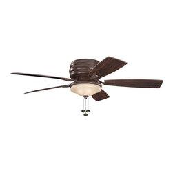 "Kichler - Kichler 300119TZ Windham 52"" Outdoor Ceiling Fan with 5 Blades - w/Light Kit - Kichler 300119 Windham Ceiling Fan"