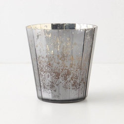 Silvered Votive, Faceted - I bet a candle will really glow in this mercury vessel.