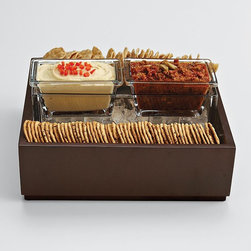 Cubist Chips and Dip Set - I'm all about organizing things into compartments, even my crackers and dip.