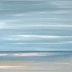Beach Wall Art - Adrift Without You - Modern abstract Ocean Beach painting print.