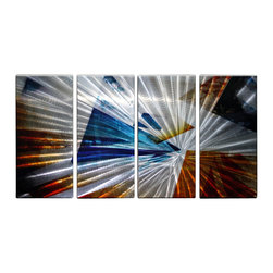Matthew's Art Gallery - Metal Wall Art Abstract Modern Contemporary Sculpture Home Wall Decor Triangles - Name: Triangles