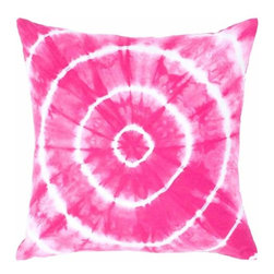 Rizzy Home - Hot PInk and White Decorative Accent Pillows (Set of 2) - T04412 - Set of 2 Pillows.