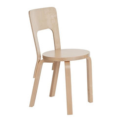 Artek - Artek Chair 66 - Make every day extraordinary with a solid birch dining chair that offers simplicity, comfort and versatility. The design is both playful and elegant, making it perfect for both your family's everyday meals and for casual dinner parties.