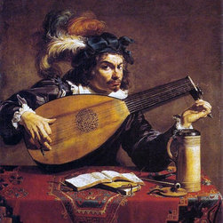 """Theodoor Rombouts The Lute Player - 16"""" x 20"""" Premium Archival Print - 16"""" x 20"""" Theodoor Rombouts The Lute Player premium archival print reproduced to meet museum quality standards. Our museum quality archival prints are produced using high-precision print technology for a more accurate reproduction printed on high quality, heavyweight matte presentation paper with fade-resistant, archival inks. Our progressive business model allows us to offer works of art to you at the best wholesale pricing, significantly less than art gallery prices, affordable to all. This line of artwork is produced with extra white border space (if you choose to have it framed, for your framer to work with to frame properly or utilize a larger mat and/or frame).  We present a comprehensive collection of exceptional art reproductions byTheodoor Rombouts."""