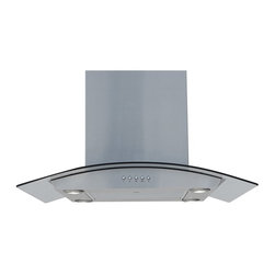 Windster - Windster 36W in. HI Series Island Range Hood - HI36 - Shop for Hoods and Accessories from Hayneedle.com! A sleek streamlined look makes the Windster 36W in. HI Series Island Range Hood a natural addition to your contemporary kitchen decor. This durable range hood comes equipped with a powerful quiet-operating 600CFM blower that features a squirrel-cage motor and three speed-control options. Tough stainless steel is used to construct the exterior paired with a curved canopy made from clear tempered glass. The blower effortlessly handles excess heat cooking odors grease vapors smoke and other kitchen issues with ease. A high-density aluminum filter is included dishwasher safe for quick easy cleaning. All necessary switches are included. A duct cover for an 8- to 9-foot tall ceiling is provided. Four 80W LED lights are provided with this set.About Windster Hoods For over a decade Windster Hoods has provided North American consumers with superior-quality range hoods filters and other ventilation and kitchen equipment. Each unit produced by Windster Hood is designed to meet or exceed the standards defined by the CSA conforming to governmental and regulatory codes. Windster products are constructed with a focus on safety and functionality featuring smooth edges single-piece designs and precise welding. Since 2003 Windster has risen to become a trusted name and industry leader. Under-cabinet wall-mounted island units and more are all produced on-site and delivered directly to business owners from the Windster warehouses.