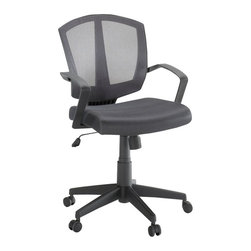 Sauder - Sauder Task Chair Mesh Gray in Chair Back to School - Sauder - Office Chairs - 413000 -