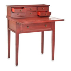 Safavieh - Safavieh American Home Abigail Fold-Down Desk - The Abigail Fold-Down Desk is not just functional home office furniture, but a charming and lovely statement piece that suits rooms with a variety of decorating motifs.