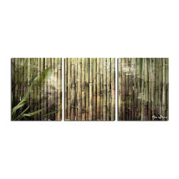 Ready2HangArt - Ready2HangArt Alexis Bueno 'Bamboo Abstraction' Canvas Wall Art (3-piece) - This abstract canvas art set is the perfect addition to any contemporary space. It is fully finished, arriving ready to hang on the wall of your choice.