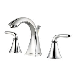 Price Pfister - Price Pfister F-049-PDCC Pasadena Double Handle 3-Hole Widespread Lead Free Bath - Price Pfister F-049-PDCC Pasadena Double Handle 3-Hole Widespread Lead Free Bathroom Faucet in Polished ChromeA truly versatile design, the Pasadena� Collection is a transitional piece that defies definition to complement a variety of decorative settings. Its clean curves and sturdy foundation radiate style. Available in a variety of finishes, Pasadena simplifies remodeling by featuring coordinating faucets and showerheads to offer a complete solution for today�s bathroom upgrade. Price Pfister F-049-PDCC Pasadena Double Handle 3-Hole Widespread Lead Free Bathroom Faucet in Polished Chrome, Features:• 2-handle lever design for ease of use