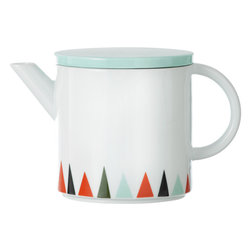 Ferm Living - Ferm Living Multicolored Teapot - Brew up some hip style with this contemporary teapot. Made from porcelain, it features clean lines and a graphic triangle design for a look that's totally hot.100% porcelainComes with a lid13cm W x 13.5cm H