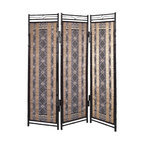 Ikat Elegance Screen - This screen is a great way to divide an open space or cover up unsightly storage. It has a beautiful pattern and is hand made of sustainable materials.