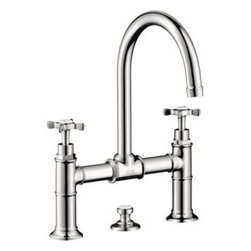 Axor - Hansgrohe - Axor Montreux Widespread, Model Bridge - 16510001 - Chrome - Axor Montreux is a stylish bathroom collection that sends us back to the early 20th century and captures the spirit of the Belle Epoque with its romantic spas. It is both a homage to the sophisticated spa resort on Lake Geneva and a modern collection.