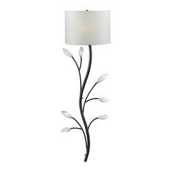 Kenroy - Kenroy 32021ORB Weston Wallchiere - The elegance of a climbing vine can now be found on your wall with this naturally inspired design, whose leaves provide tiny mirrors that catch the light.