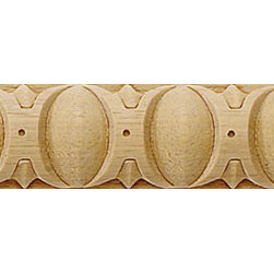 """Inviting Home - Annapolis Egg-and-Dart Carved Wood Panel Molding - Annapolis Egg-and-Dart carved wood panel molding 1""""H x 3/8""""P x 8'00""""L sold in 8 foot length (4 piece minimum required) Wood panel molding specifications: Outstanding quality molding profile carved from high grade kiln dried solid European beech wood. High relief decorative design is machine carved. Wood molding is sold unfinished and can be easily stained painted or glazed. The installation of the wood molding should be treated the same manner as you would treat any wood molding: all molding should be kept in a clean and dry environment away from excessive moisture. acclimate wooden moldings for 5-7 days. when installing wood moldings it is recommended to nail molding securely to studs; pre-drill when necessary and glue all mitered corners for maximum support."""