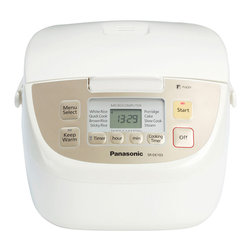 Panasonic - 5-Cup Rice Cooker, 12 Hour Keep Warm, Fuzzy Logic, 8 Menu Setting - 5-Cup uncooked rice capacity