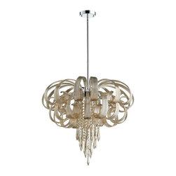 Cyan Design - Cindy Lou Who Chandelier - Large - Large cindy lou who chandelier - cognac