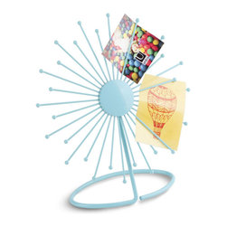 Umbra - Umbra Sunny Desk Photo & Memo Display, Surf Blue - Add a burst of rays to your desk with our Sunny desk photo and memo display in surf blue by Umbra. Made up of powder coated metal wire that casually holds photos and mementos adorably, we might add.