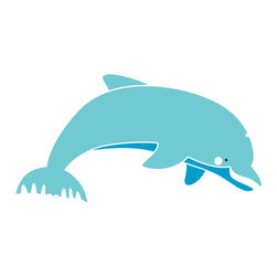 My Wonderful Walls - Dolphin Stencil for Painting - - 2-piece dolphin stencil