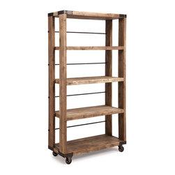 ZUO ERA - Newcomb Wide 4 Level Shelf Distressed Natural - Newcomb Wide 4 Level Shelf Distressed Natural