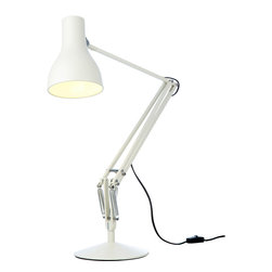 Anglepoise - Type 75 Desk Lamp - White - Anglepoise - For over 70 years, Anglepoise has created table lamps and table lights that are now British design classics. This version of the Type 75 was designed by Kenneth Grange and with its broad range of movement and classic looks it will suit a wide range of uses from reading in your arm chair to working at your desk. Perfect in either the home or the office.