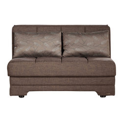 Istikbal - Twist Loveseat Sleeper in Astoral Light Brown - Add an amazing style in your room! Conventional Twist Loveseat Sleeper in Astoral Light Brown features a built-in storage unit and ready to use sleek loose pillows. A visually intriguing body of the love seat sleeper is built to last a lifetime.