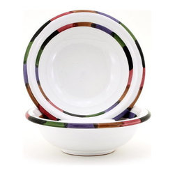 Artistica - Hand Made in Italy - Circo: Cereal Bowl - The Circo-Bello collection is an exclusive product from Deruta of Italy designed by Bill Goldsmith.