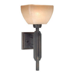 Vaxcel Lighting - Vaxcel Lighting DC-VLU001 DesCartes 1 Light Bathroom Sconce - Features: