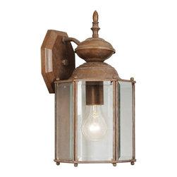 Livex Lighting - Livex Lighting 2007-18 Outdoor Wall Lantern - Glass Type/Shade Type: Clear Beveled Glass