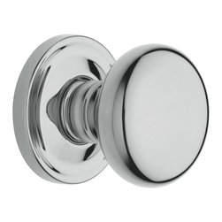 Baldwin Hardware - Estate Classic Full Dummy Door Knob in Polished Chrome (5015 260 FD SET) - The Estate line offers the ultimate flexibility in creating your own custom look. Not only can you mix knobs, levers, and roses to create a custom lockset that's a true fit to your design vision, you can also mix knob and lever styles on each side of the