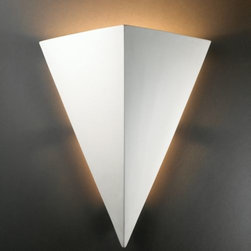 Justice Design Group - Really Big Triangle Outdoor Wall Sconce by Justice Design Group - It's rare to find an outdoor uplight that's great for wet locations. The Justice Design Really Big Triangle Outdoor Wall Sconce provides such lighting in a strong shape and paintable finish. Available in many sizes, the Really Big Triangle Outdoor Wall Sconce complements a range of outdoor spaces. Justice Design Group offers a wide array of lighting solutions for residential and commercial settings. Create a mood, complement a theme, or add the perfect accent with a JDG decorative lighting fixture.