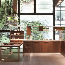 Contemporary Wooden Oak Kitchen Furniture with Ecological Design from Snaidero  