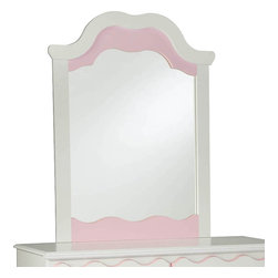 Standard Furniture - Standard Furniture Bubblegum Arched Mirror in White and Pink - Bubblegum Bedroom is adorably cute and charmingly sweet, and is lavished with lots of girlie-girl details.
