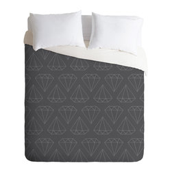 DENY Designs - Wesley Bird Diamond Print 1 Duvet Cover - Turn your basic, boring down comforter into the super stylish focal point of your bedroom. Our Luxe Duvet is made from a heavy-weight luxurious woven polyester with a 50% cotton/50% polyester cream bottom. It also includes a hidden zipper with interior corner ties to secure your comforter. it's comfy, fade-resistant, and custom printed for each and every customer.