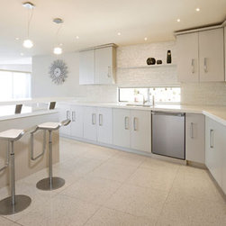 Caesarstone Pure White - One of the newest colors from Caesarstone, Pure White is the whitest of all whites — perfect for that sleek, modern, all-white kitchen you've been dreaming about.